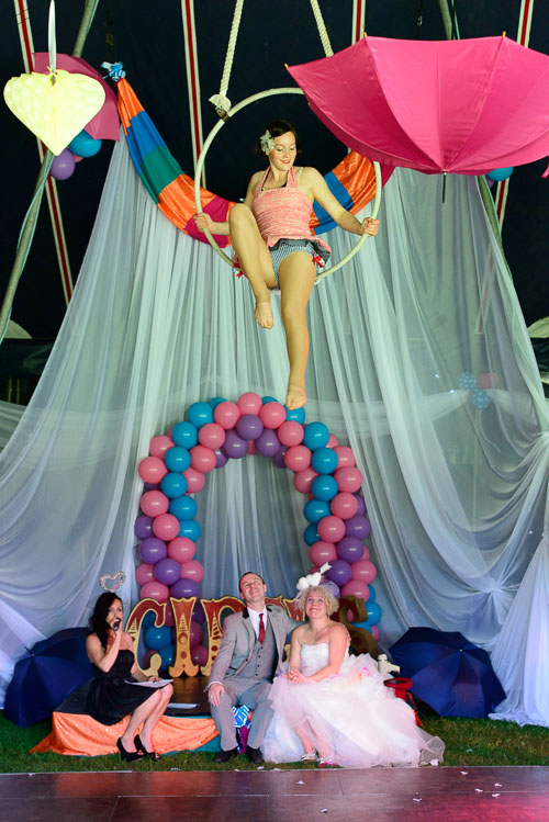 Andy and Susy's circus wedding